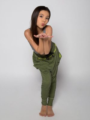 Green Harem Pants: Shadow Green Harem Pants by Sugar and Bruno Apparel in Indianapolis, IN