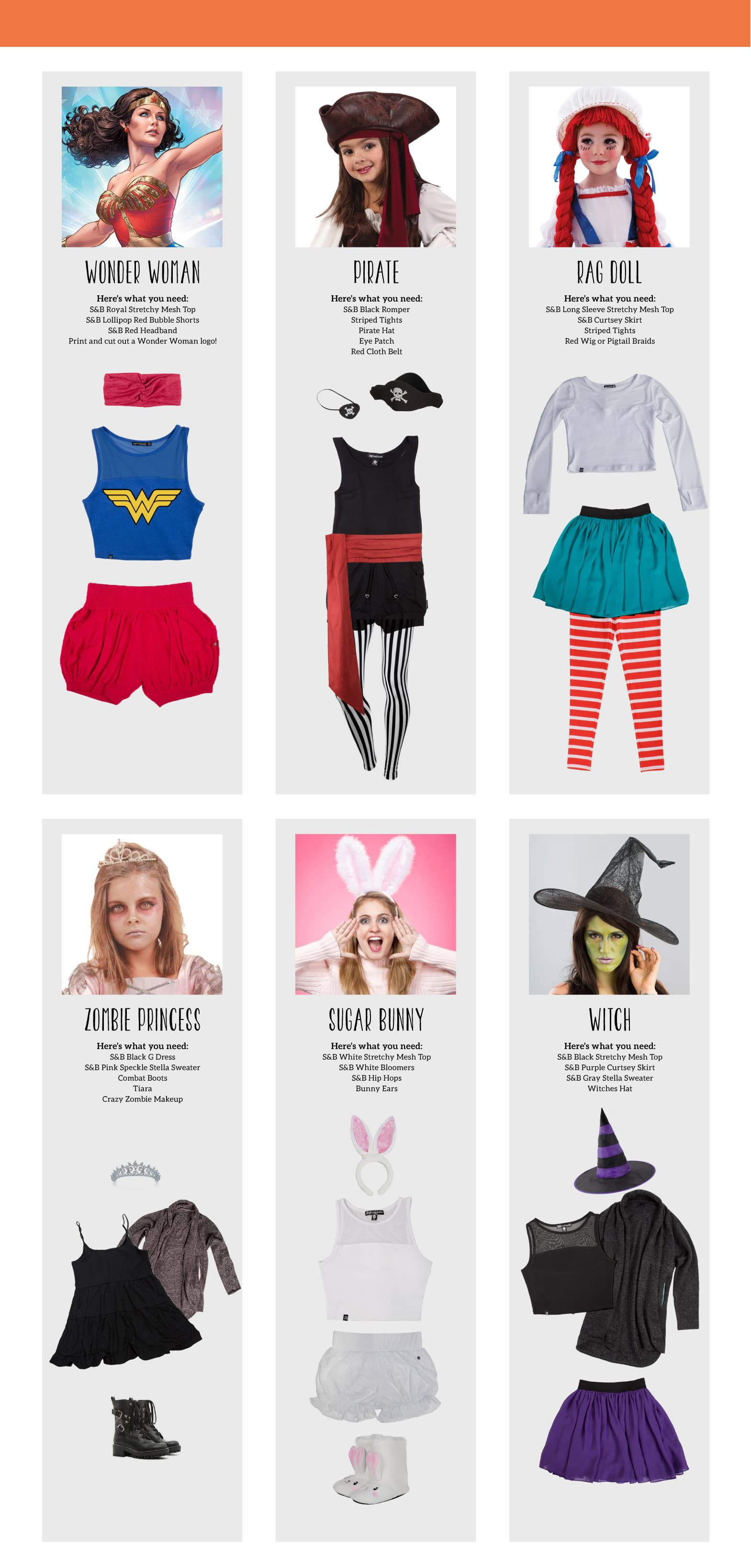 Sugar and Bruno Halloween Costumes: Check out these quick Halloween Costumes created with your favorite Sugar and Bruno Apparel!