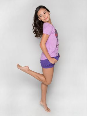 "Purple Dance Shirt: ""Chalet Heart Dancer"" Upscale Tee by Sugar and Bruno Apparel"