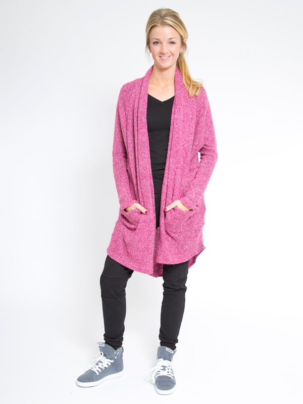 Hot Pink Sweater: The Stella Sweater in Hot Pink by Sugar and Bruno Apparel in Indianapolis, IN
