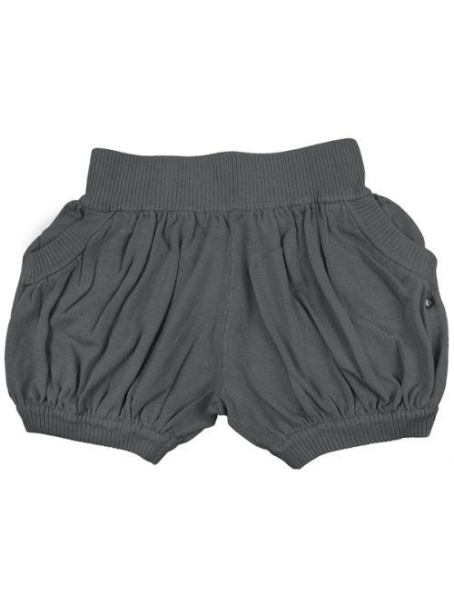 Gray Sweater Shorts: Bubbles in Steel Gray by Sugar and Bruno Apparel in Indianapolis, IN
