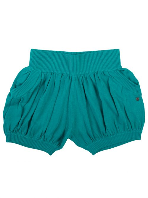 Teal Sweater Shorts: Bubbles in Mermaid Teal by Sugar and Bruno Apparel in Indianapolis, IN