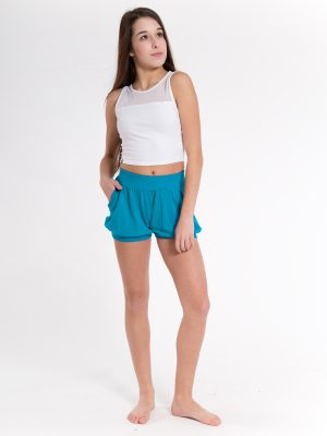 Blue Sweater Shorts: Bubbles in Electric Blue by Sugar and Bruno Apparel in Indianapolis, IN