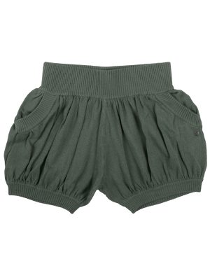 Green Sweater Shorts: Bubbles in Moss by Sugar and Bruno Apparel in Indianapolis, IN