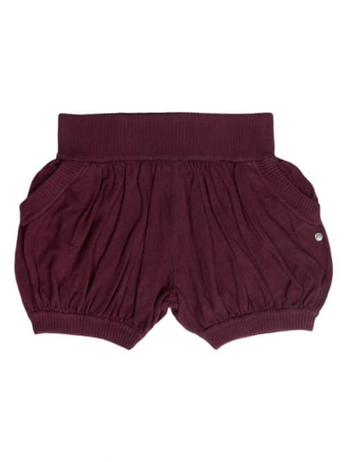 Burgundy Sweater Shorts: Bubbles in Burgundy by Sugar and Bruno Apparel in Indianapolis, IN