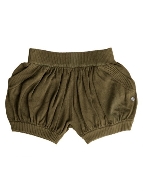 Green Sweater Shorts: Bubbles in Army by Sugar and Bruno Apparel in Indianapolis, IN