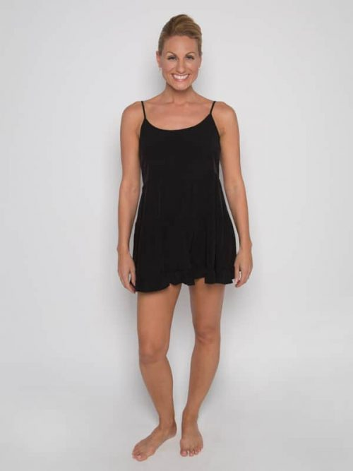 Black Boho Dress: Casual Fancy G Dress in Black by Gina Pero for Sugar and Bruno Apparel in Indianapolis, IN