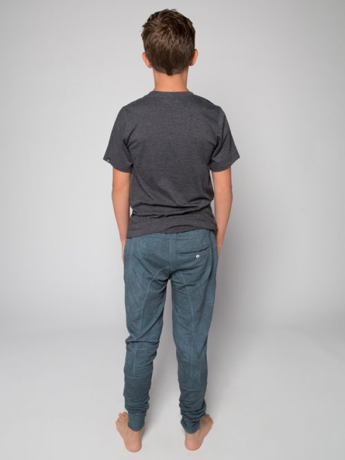 Blue Jogger Pants: Shadow Blue Jogger Pants by Sugar and Bruno Apparel in Indianapolis, IN