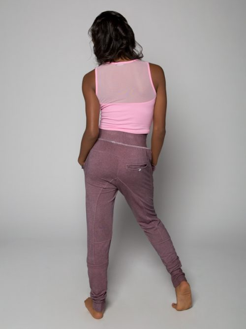 Pink Jogger Pants: Shadow Pink Jogger Pants by Sugar and Bruno Apparel in Indianapolis, IN