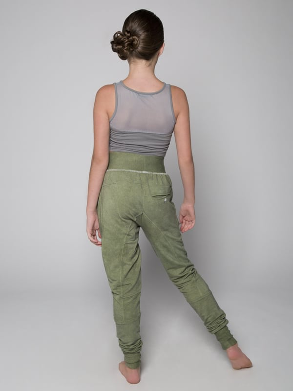 Green Jogger Pants: Shadow Green Jogger Pants by Sugar and Bruno Apparel in Indianapolis, IN