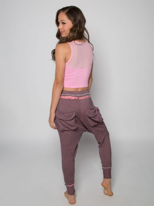 Pink Harem Pants: Shadow Pink Harem Pants by Sugar and Bruno Apparel in Indianapolis, IN