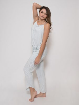 Blue Romper: Rad Romper in Sky by Sugar and Bruno Apparel in Indianapolis, IN