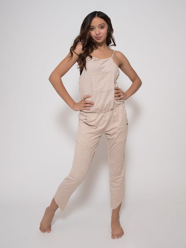 Tan Romper: Rad Romper in Sand by Sugar and Bruno Apparel in Indianapolis, IN