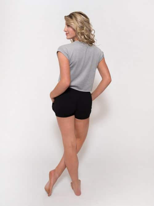 Gray Crop Top: Boss Crop in Gray by Sugar and Bruno Apparel in Indianapolis, IN