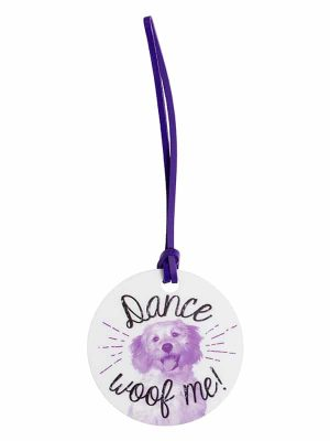 "Luggage Tag ""Dance Woof Me"" by Sugar and Bruno Apparel"