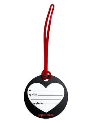 "Luggage Tag ""I Heart Boys Who Dance"" by Sugar and Bruno Apparel"