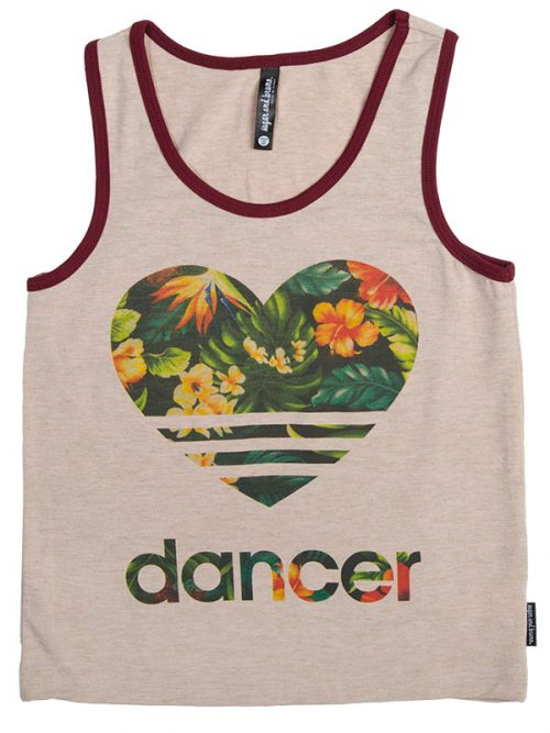 "Tank Top: Rebel Tank ""Floral Heart Dancer"" by Sugar and Bruno"