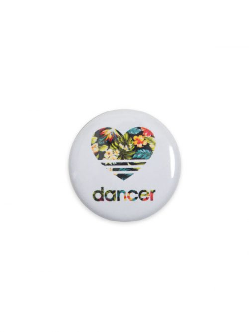 "Button ""Floral Heart Dancer"" by Sugar and Bruno Apparel"
