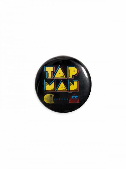 "Button ""Tap Man"" by Sugar and Bruno Apparel"