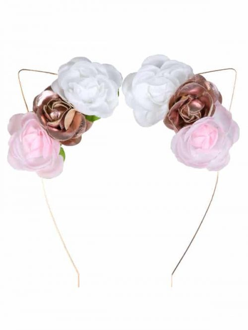 "Cat Ears Headband: ""Floral Kitty Cat Headband"" by Sugar and Bruno Apparel in Indianapolis, IN"