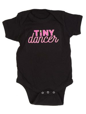 "Black Pink Onesie: ""Tiny Dancer"" by Sugar and Bruno Apparel in Indianapolis, IN"