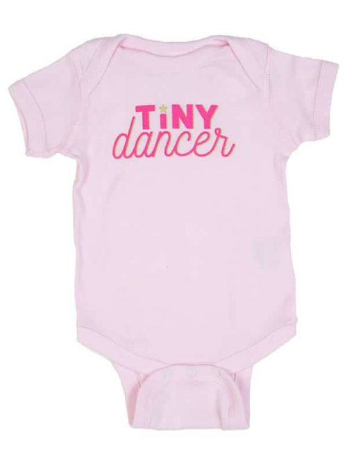 "Baby Pink Onesie: ""Tiny Dancer"" by Sugar and Bruno Apparel in Indianapolis, IN"