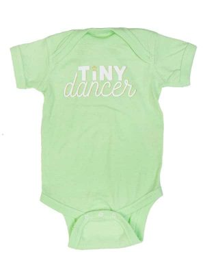 "Green Onesie: ""Tiny Dancer"" by Sugar and Bruno Apparel in Indianapolis, IN"
