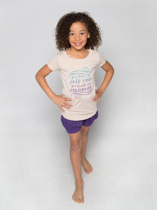 "Dance Shirt: ""You Think I'm Cute Now, You should see my Moves"" Upscale Tee by Sugar and Bruno"