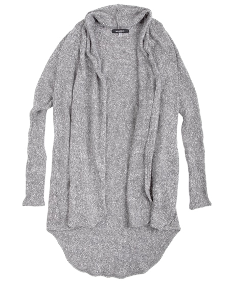 Light Gray Cardigan: The Stella Sweater in Oatmeal by Sugar and Bruno Apparel in Indianapolis, IN