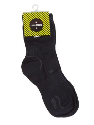 Black Performance Socks: Lightweight Performance Sock in Black by Sugar and Bruno Apparel in Indianapolis, IN