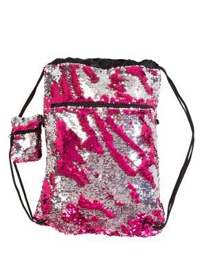 Pink Sequin Backpack: Mermaid Bag in Pink by Sugar and Bruno Apparel in Indianapolis, IN