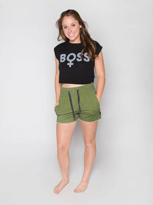 Boss Crop Top: Boss Design by Chelsie Hightower for Sugar and Bruno Apparel in Indianapolis, IN