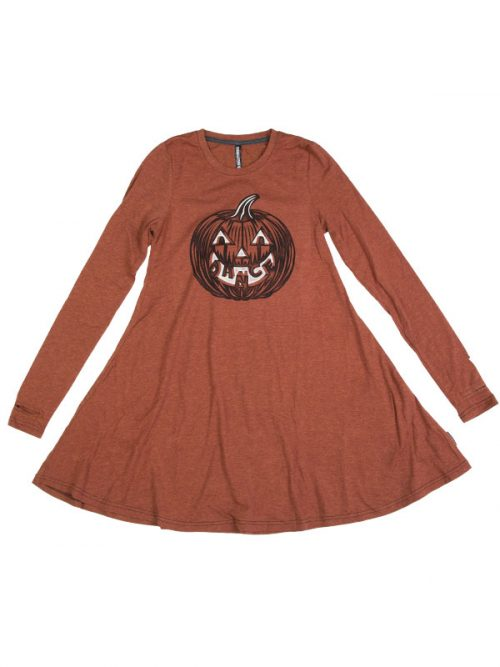 Halloween Dress: Dance Pumpkin Swing Dress by Sugar and Bruno Apparel in Indianapolis, IN