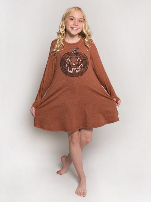Halloween Dress: Dance Pumpkin Swing Dress by Sugar and Bruno Apparel
