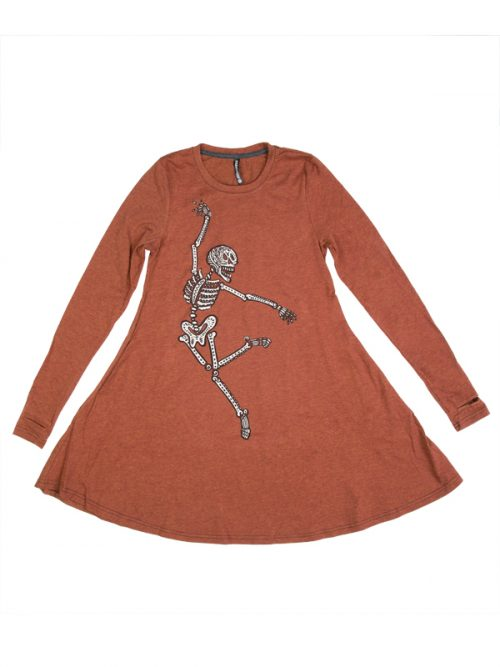 Halloween Dress: Dancing Skeleton Swing Dress by Sugar and Bruno Apparel in Indianapolis, IN