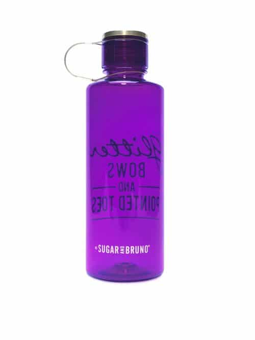 Glitter Bows Bottle - Purple